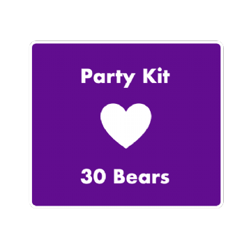 "8"" Bear Party Kit for 30 Children"